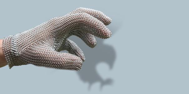 Schlachthausfreund-Erfindungen-Inventions-Stechschutzhandschug-Metal-Mesh-Glove-Falcon